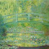 Papier peint photo - Monet - Étang avec nénuphars et pont japonais
