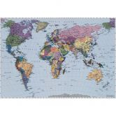 Photo Wallpaper Paper World Map