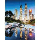 Fototapete Colombo - Petronas Towers bei Nacht
