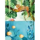 Fototapete Goed Blauw - Tiger im Dschungel