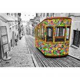 Fototapete Ben Heine - Tram in Lissabon