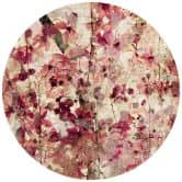 Fototapete Vintage Blütenmuster - Rund