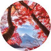 Fototapete Samejima - Rote Blätter - Rund