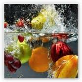 Wandbild Erfrischendes Obst - quadratisch