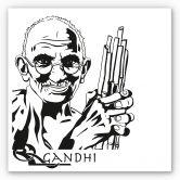 Wandbild Mahatma Gandhi
