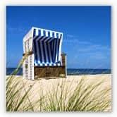 Wandbild Strandkorb - quadratisch