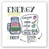 Wandbild Energy Boost - quadratisch