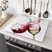 Hob Cover Black Wine Glasses