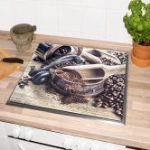 Herdabdeckplatte Kaffeeduft