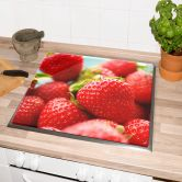 Herdabdeckplatte Erdbeeren aus dem Garten