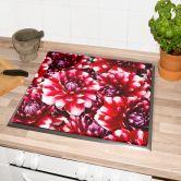 Herdabdeckplatte Rote Blütenpracht