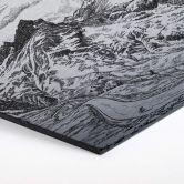 Hexagon - Alu-Dibond-Silbereffekt Sparshott - Col du Glandon