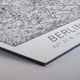 Hexagon - Alu-Dibond - Stadtplan Berlin