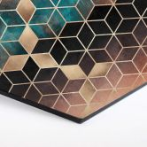 Hexagon Dibond Fredriksson - Goudgroene Geometrie