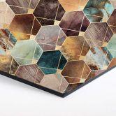 Hexagon - Alu-Dibond - Fredriksson - Gold und Kupfer