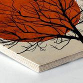 Hexagon Birch veneer - Kubistika - Warm Sunset