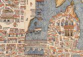Acrylglasbild Historische Karte von Paris