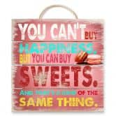 Houten Wanddecoratie You can't buy happiness