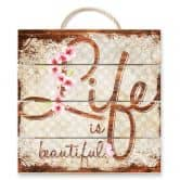 Holzbild Life is Beautiful - Vintage