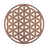 Holzdeko Mahagoni Furnier - Blume des Lebens