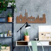 Holzkunst Mahagoni Furnier - Skyline Berlin