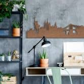 Holzkunst Mahagoni Furnier - Skyline New York