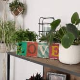Targa in legno - Vintage Love