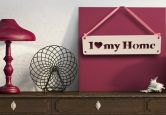 Lettre décorative - 3D- A suspendre -I Love My Home-