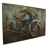 Metall Wandbild Motorrad 120cm x 80cm