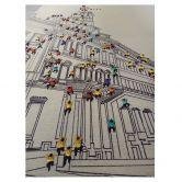 Öl-Wandbild Menschenmenge I 100cm x 75cm