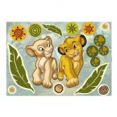 Wandsticker Simba and Nala