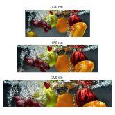 Keukenachterwand - Alu-Dibond Zilver - Verfrissend Fruit