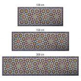 Küchenrückwand - Alu-Dibond-Silber - Orientalische Kacheln 01