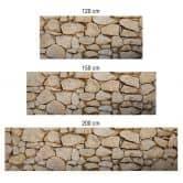 Küchenrückwand - Alu-Dibond-Silber - Mauer 01