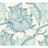 colourcourage® Tapete Artist Edition No. 1 Dried Flowers blau, creme by Lars Contzen