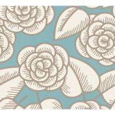 colourcourage® Tapete Artist Edition No. 1 Fleur Côtiere blau, braun, creme by Lars Contzen