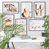 Poster effetto ramato – Love 02