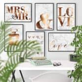 Poster effetto ramato - Mrs and Mr