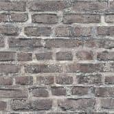 Livingwalls Tapete Neue Bude 2.0 in Vintage Backstein Optik bunt, grau, schwarz