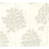 Livingwalls Vliestapete Colibri Tapete floral weiß, grau, braun