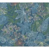 Livingwalls Vliestapete Colibri Dschungeltapete blau, gelb, grün