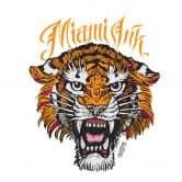 Sticker mural - Miami Ink - Tiger