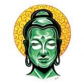 Sticker mural - Miami Ink - Tête de Bouddha