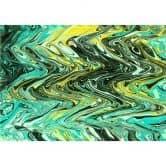 Möbelfolie, Dekofolie - abwischbar - Farbwellen