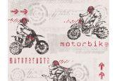 A.S. Création paper behang Boys & Girls 5 grijs, rood, wit