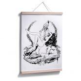 Poster  - Drawstore - Parrot  'n Girl