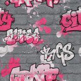 Carta da parati Rasch - Kids & Teens III Graffiti 1