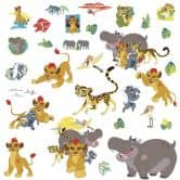 Muursticker set - The Lion and his friends
