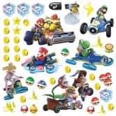 Wandsticker Super Mario - Mario Kart 8 - 44-teilig