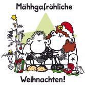Wandtattoo sheepworld Mähhgafröhliche Weihnachten!